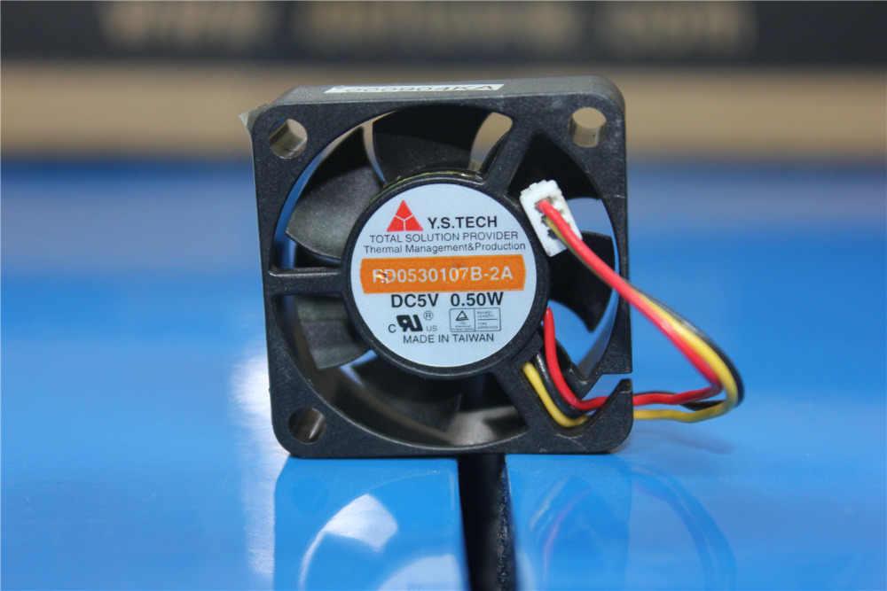 """מקורי Y. S. TECH FD0530107B-2A DC5V 0.50 W 3 ס""""מ Set-top מארז דיסק קשיח מיקרו מאוורר"""