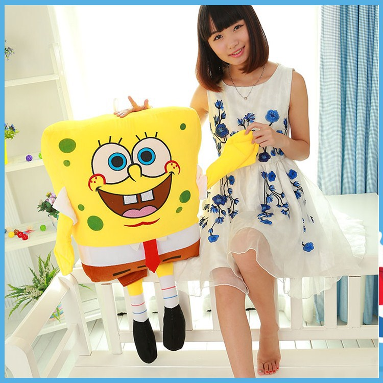 35 cm Sponge Bob Baby Toy Spongebob And Patrick Plush Toy Soft Anime Cosplay Doll For Kids Toys Cartoon Figure Cushion dolls toy 4styles mask hero doll cartoon baby kids plush toys comforting sofa xmas gift action figure bunny cushion film transfiguration