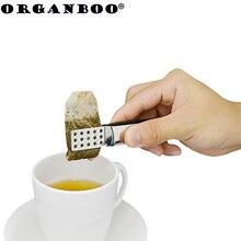 ORGANBOO 1 шт. зажим для чайных пакетиков из нержавеющей стали анти-горячий зажим tong чайные аксессуары маленькие пищевые зажимы