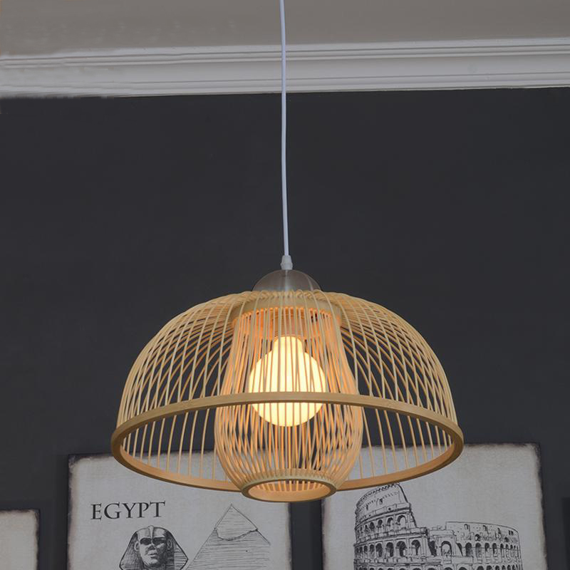 Natural bamboo pendant light modern bamboo lamp chinese rustic style natural bamboo pendant light modern bamboo lamp chinese rustic style southeast american country in pendant lights from lights lighting on aliexpress aloadofball Choice Image