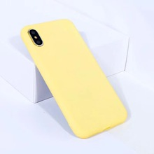 Cute Candy Color Phone Case For iphone X 7 6 6S 8 Plus Back Cover Fashion Solid Matte Soft TPU Cases Coque
