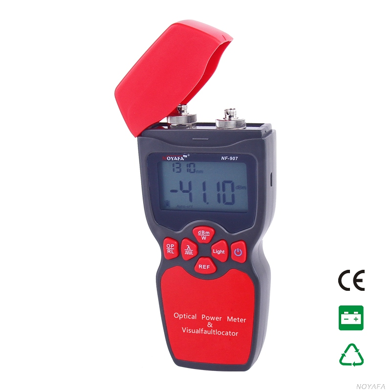 Original Noyafa NF-907 2-in-1 Optical Multimeter Optical Fiber Tester Optical Power Meter Tester Visual Fault Locator free shipping noyafa nf 906c new optical power meter 850 1300 1310 1490 1550 1625nm and detecting range dbm 50 26