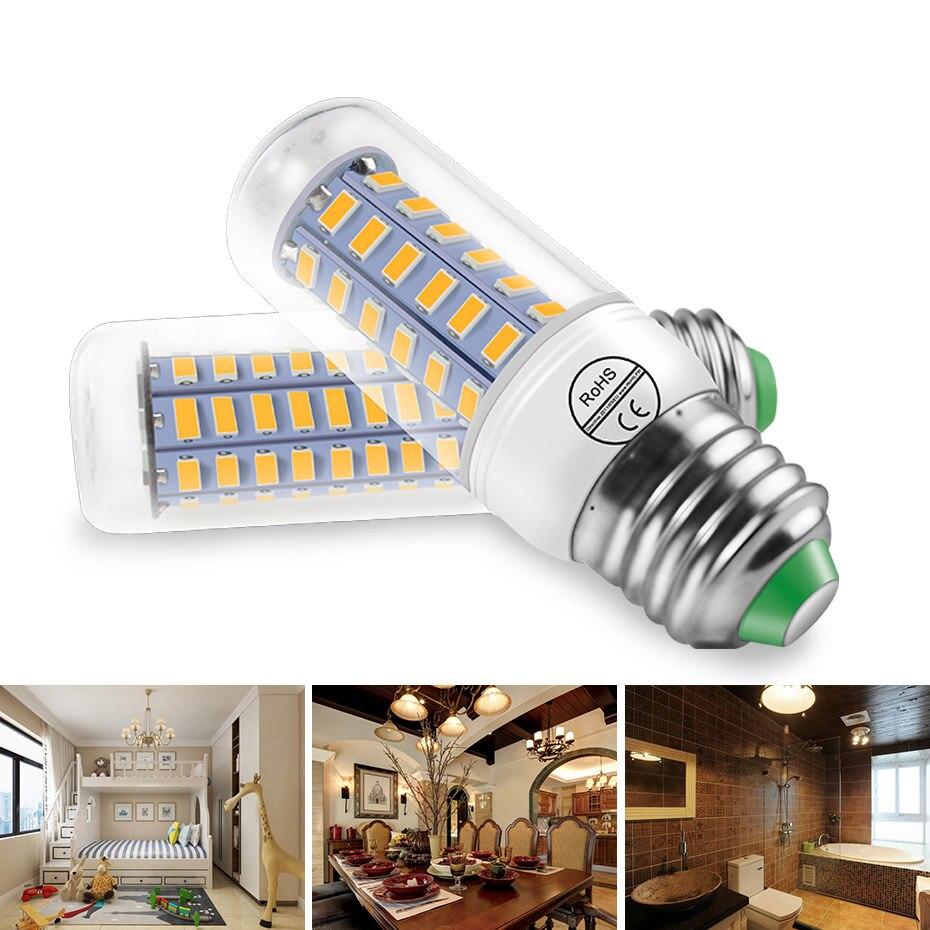 Led Lamp E27 E14 Led Bulb 24 36 48 56 69 72leds Smd5730 Daylight Led Corn Bulb 220v Energy Saving Chandelier Candle Led Light