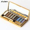 Aochern НОВЫЙ 9 Цветов Алмазный Яркий Макияж Дымчатый Тени Для Век Naked Palette Set Тени Maquillage Косметический С Кистью