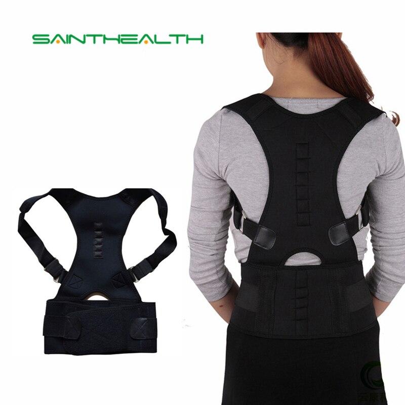 Magnetico Posture Corrector Brace Spalla di Sostegno per la Schiena per l'uomo le donne cintura Bretelle Supporta Spalla cintura di correzione della Postura