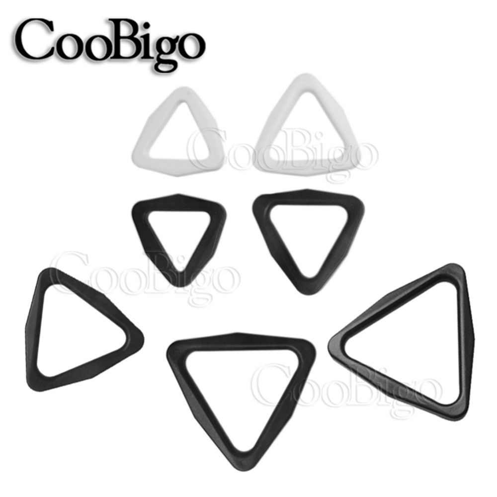 Deslizador de hebilla de triángulos de plástico de 2 uds ajustar el tamaño de la correa 3/4 ''1'' 1-1/4 ''1-1/2'' 1-3/4 ''para partes de correas de mochila