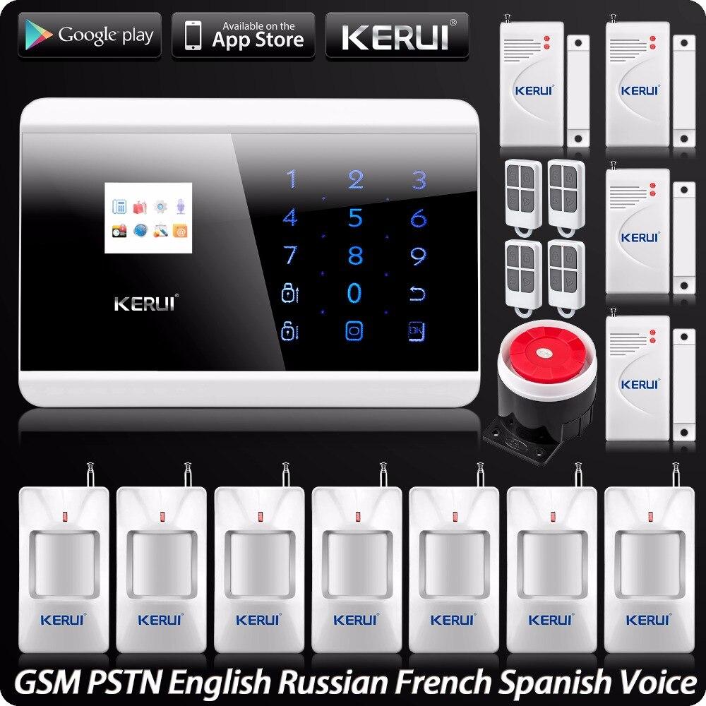 GSM PSTN Double Filet de Sécurité de Système D'alarme À la Maison de Système D'intrusion Clavier Tactile Panneau Androïde D'OIN Contrôle App Système D'alarme De Sécurité