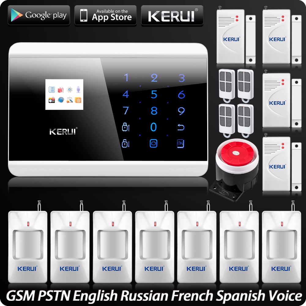 GSM PSTN Dual Net Home Alarm System Security Intruder System Touch Keyboard Panel ISO Android App Control Security Alarm System