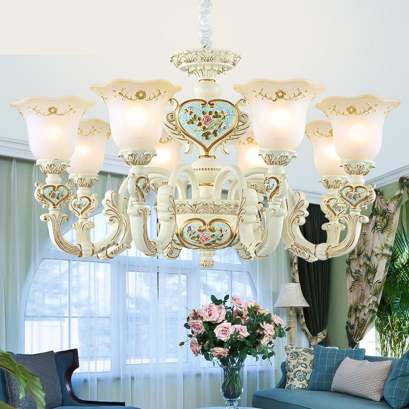American Chandeliers Garden Style Modern Minimalist Bedroom Lamps Simple European Wedding Decoration Ceiling Chandelier