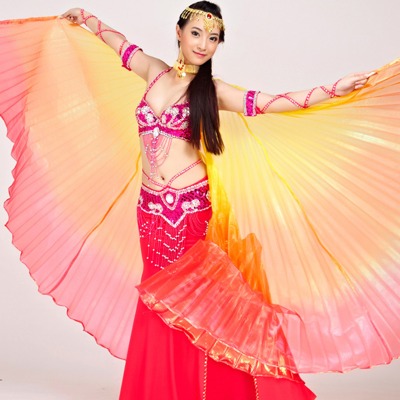 Large Belly Oriental Eastern Egypt Dance Butterfly Isis Angel Wings For Women Bellydance Dancing Costumes Accessories Close Back