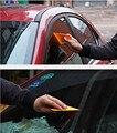 1 unids amarillo cuerpo de la herramienta de ventana de Estilo Fibra del Carbón 3D etiqueta engomada Del Coche Envoltura de Vinilo Película herramientas de Accesorios de Auto