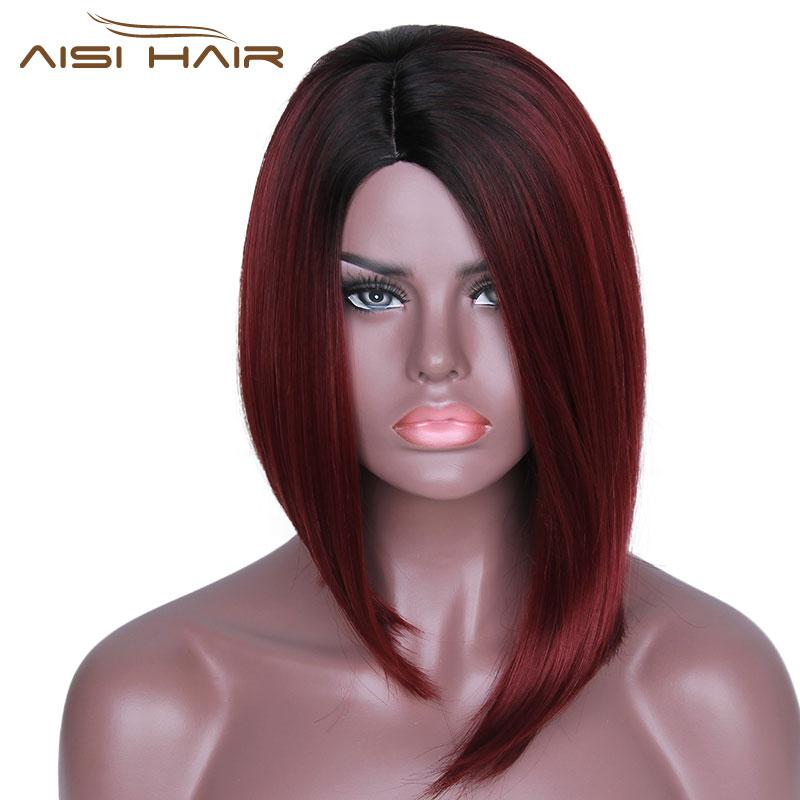 Είμαι μια περούκα Ombre κόκκινο Bob - Συνθετικά μαλλιά - Φωτογραφία 2