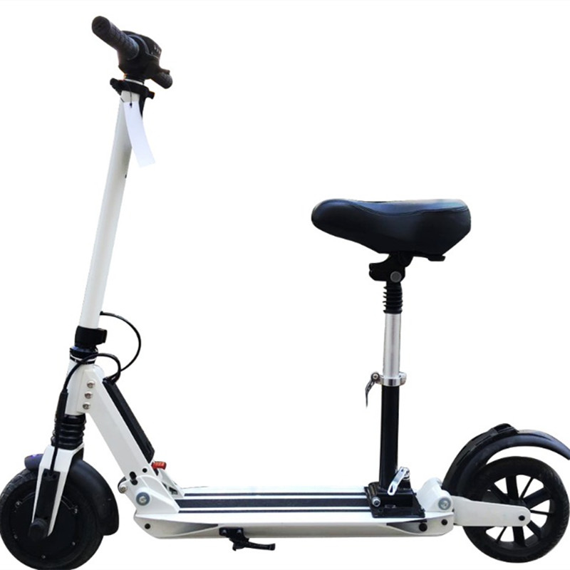 light electric scooter with seat portable foldable mini electric bike myway 8 8ah battery. Black Bedroom Furniture Sets. Home Design Ideas