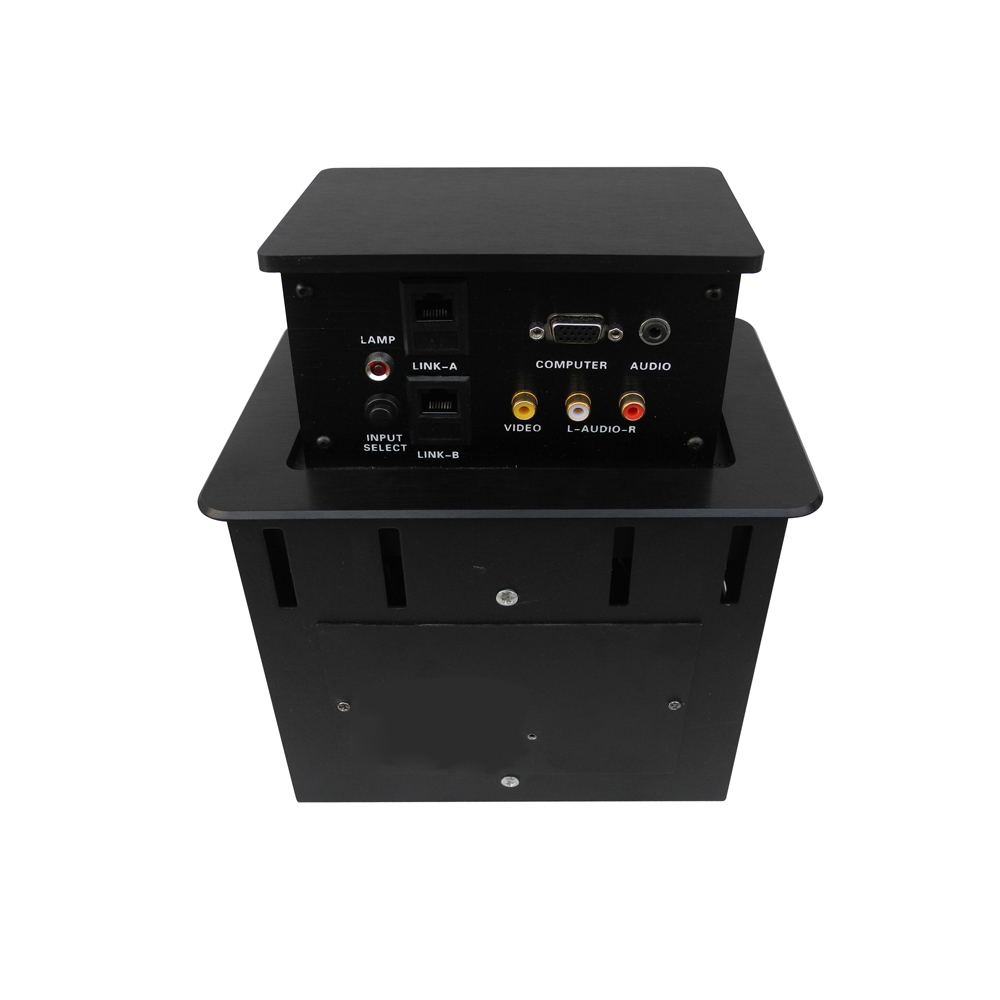 ZSH10 boîte de connexion multimédia amortie prise de bureau carrée de levage couleur argent/noir