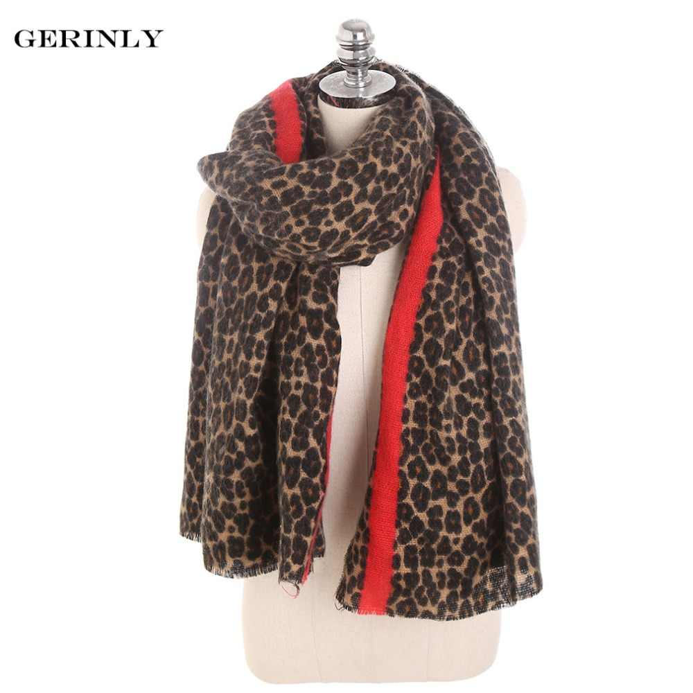 a7bf7e0e58ee6 Detail Feedback Questions about Leopard Print Scarf Women Winter Cashmere  Scarf Warm Long Blanket Scarves Sjaal Shawl Soft Pashmina Female Hijab ...