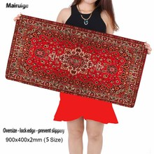 Big Selling Size of 2017, The Mouse Mat Red Persian Carpet Style 90X40CM Fashion Anti-slip Laptop PC Personality Keyboard Pad