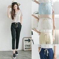 2018 Summer Autumn Newest Female Fashion Cotton Linen Plus Size Solid Casual Harem Pants Women Pencil