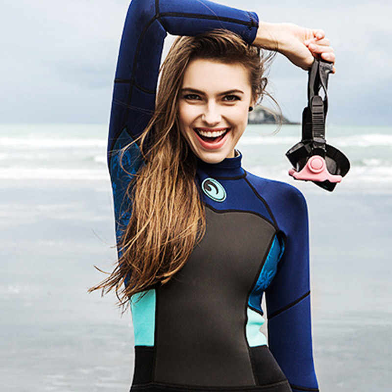 Professionele 1.5mm Vrouwen Wetsuit Full Body Scuba Duiken Pak Warm Houden Surfen Duiken Wetsuits Ademend Duikuitrusting