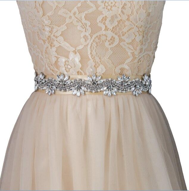 TOPQUEEN women's S282 handmade Rhinestone Wedding evening dress sash Belts Bridal bride Belt Sashes for the party