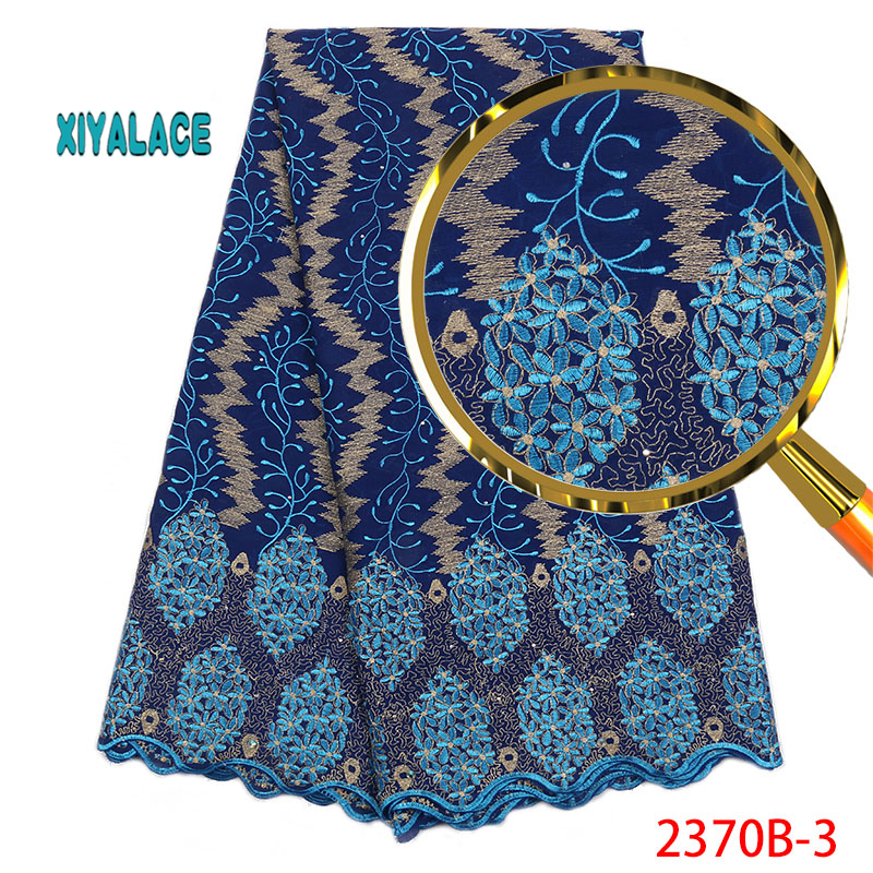 African Lace Fabric French Lace 2019 Nigerian High Quality Voile Stones Lace Fabric New Wedding Dress Swiss Voile Lace YA2370B-3