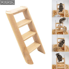 Natural Wood Small Animal Toys Hamster Chew Toys Wooden Hanging Climbing Ladder For Small font b