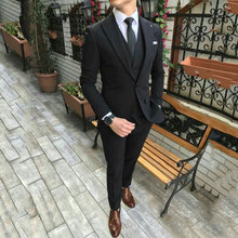 Gentle Mens Classic Wedding Suits Man Blazers Wide Peaked Lapel 3 Piece Coat Pants Vest Costume Homme Prom Wear Terno Masculino