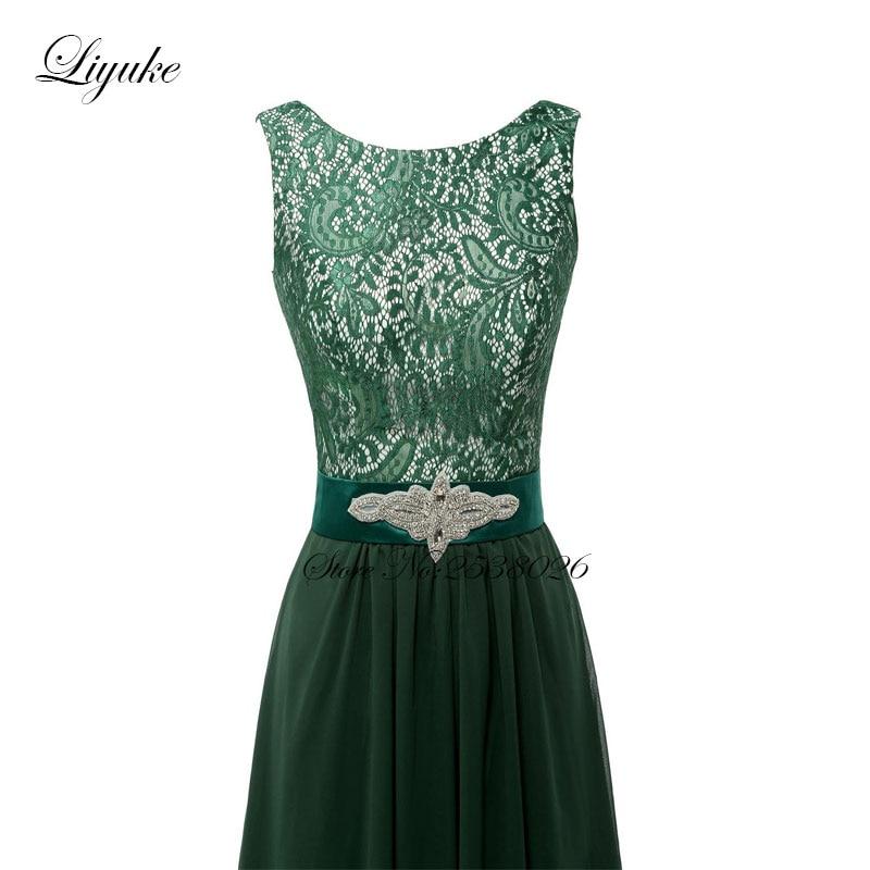 Liyuke krajka s šifónem družiček šaty formální šaty - Šaty pro svatební hostiny - Fotografie 4