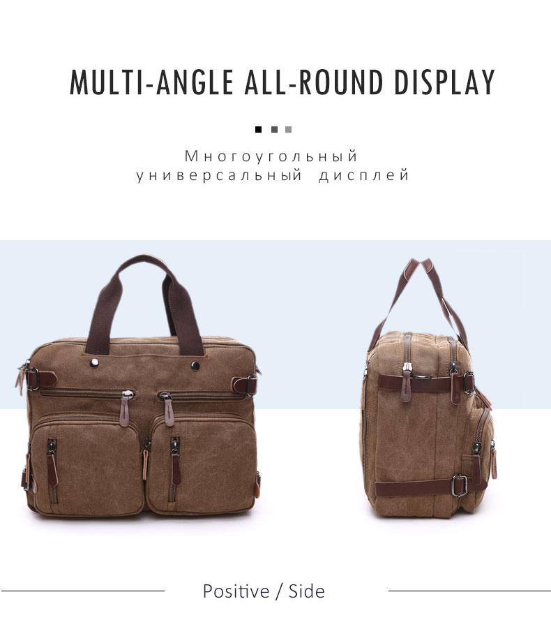 HTB1py1sKkKWBuNjy1zjq6AOypXaJ Scione Men Canvas Bag Leather Briefcase Travel Suitcase Messenger Shoulder Tote Back Handbag Large Casual Business Laptop Pocket
