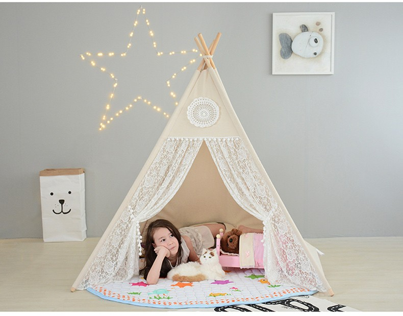 Lace Indian Play House Tent -Kid Tent Toy Best Children's Lighting & Home Decor Online Store