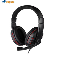 Headphone Gaming Headset Headphone Wired Stereo Earphone Headset With Microphone Adjustable Over Ear For Play Station