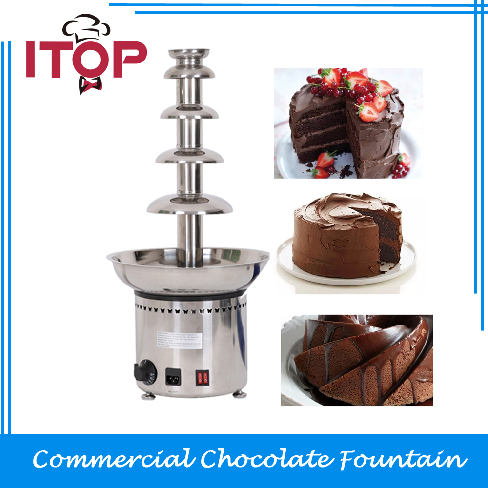 все цены на ITOP Chocolate Fountain Stainless Steel 5 Tiers 4kgs Capacity 27'' High Fondue CE Waterfall Stocks in UK/DE онлайн