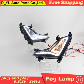 Car styling For Elantra LED DRL For Elantra High brightness guide LED DRL led fog lamps daytime running lights