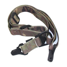 Outdoor Multicam Camo Gun Sling Tactical Two Point Rifle Sling Adjustable Shoulder Strap Gun Sling Hunting Shooting