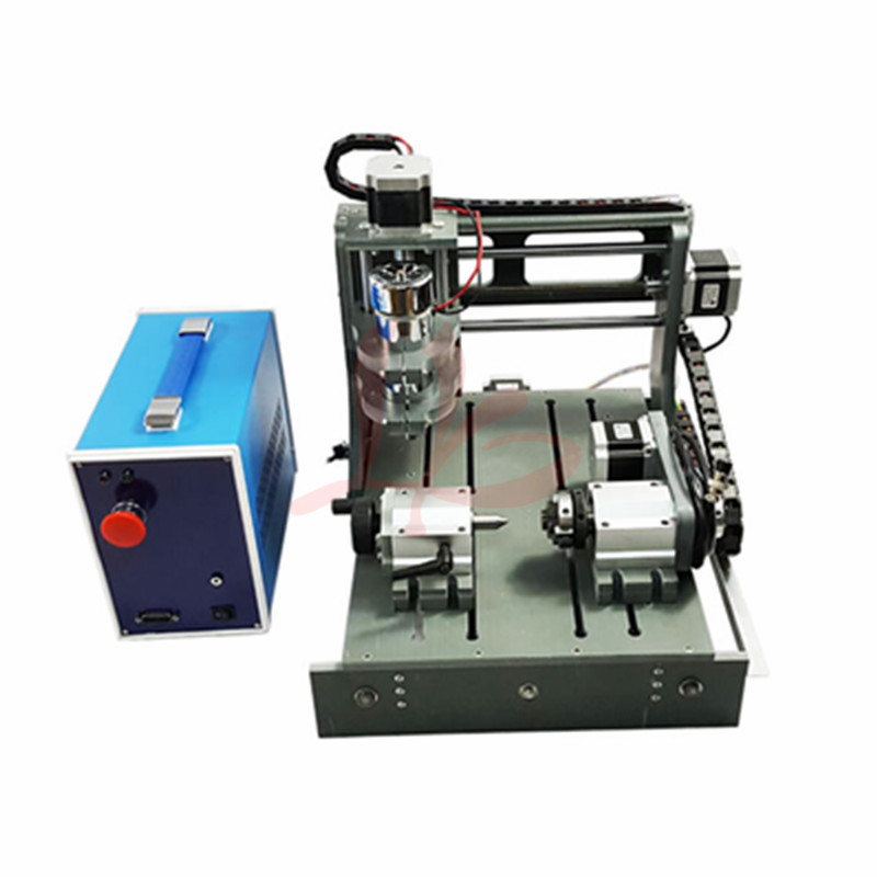 4 Axis Mini Cnc Machine 3020 300w Spindle  2 In 1 USB And Parallel Port Cnc Cutting Machine