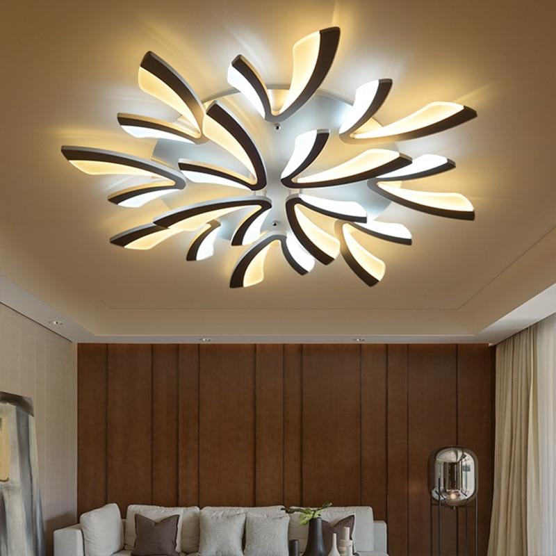 New Arrival Modern Chandeliers For Living Room Bedroom Dining Room Kitchen White&Black Finished V Shape Fashioin LED Chandeliers
