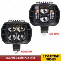 Black 40w Led Headlight Motorcycle 12v led headlamp 5'' led auxiliary beam work driving light used for SUV ATV Truck Car x1pc