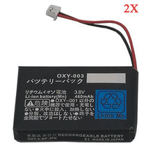 2Pcs Lot 3 8V 460mAh Rechargeable Battery For Nintendo GBM Game BoyMicro Controller