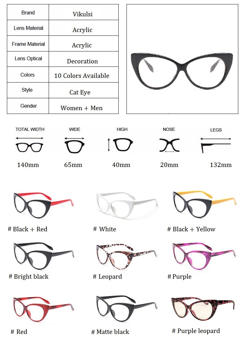 d982d5e9ca 2019 2017 New Sexy Cat Eye Optical Glasses Women Transparent Eyewear ...