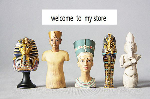 plastic Old gold bust of Egyptian coffin gold mask patron simulation doll doll ornaments figure the statue model 5pcs/set cute resin little baby figure desk doll ornaments 4 figure set