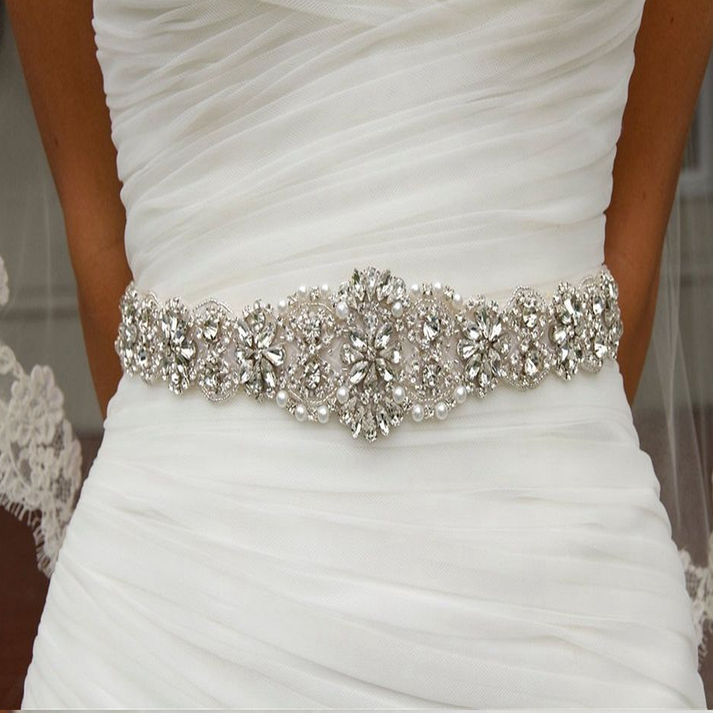 Flower Belts For Wedding Dresses: Aliexpress.com : Buy JLZXSY Flower Style Wedding Belt