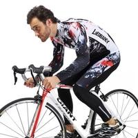 LEOBAIKY 2017 Cycling Jersey Set Mens Long Sleeve Cycling Clothing Summer Quick Dry Mtb Bicycle Sports