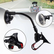 Car Phone holder Car window Windshield Mount Holder 360 Degree Phone Holder Stand for iPhone 6 6S 5S 5 7 Samsung Universal Stand