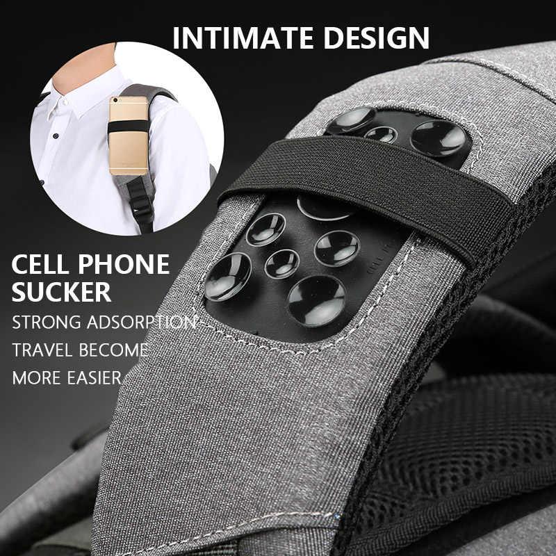 גברים של ''אינץ USB טעינה תרמילי נגד גניבה בחזרה חבילת מחשב נייד שקיות זכר נשים של אופנה עמיד למים נסיעות המוצ 'ילה