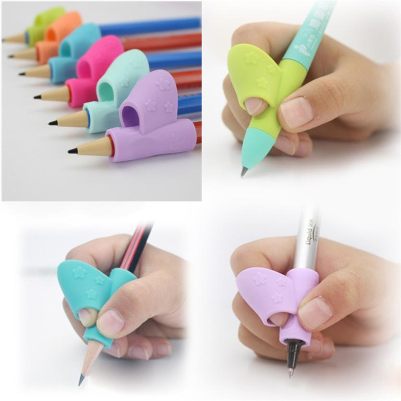 Silicone 3PCS/Set Children Pencil Holder Pen Writing Aid Grip Posture Correction Tool New feb12
