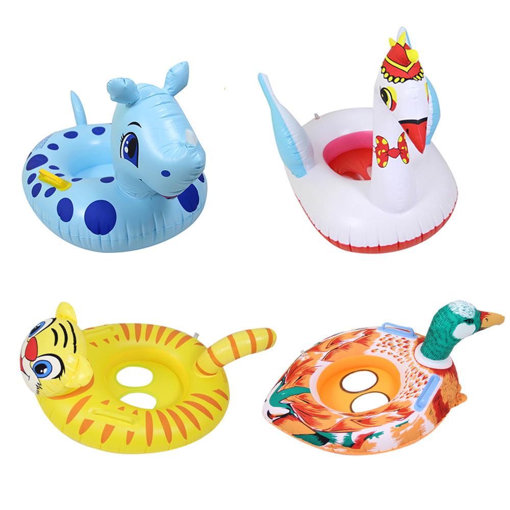 2pcs Duck Opening Swimming Ring Floaty Inflatable Baby Bath Beach Toys Summer Outdoor Kid Toys Water Games Sand Toys For Childre Toys & Hobbies