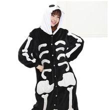 Funny Pajamas Adults Cartoon Skeleton Cosplay Lovers Stich Pokemon Onesie  Winter Warm Flannel Womens Pajamas Pijama 9f3ca80fd