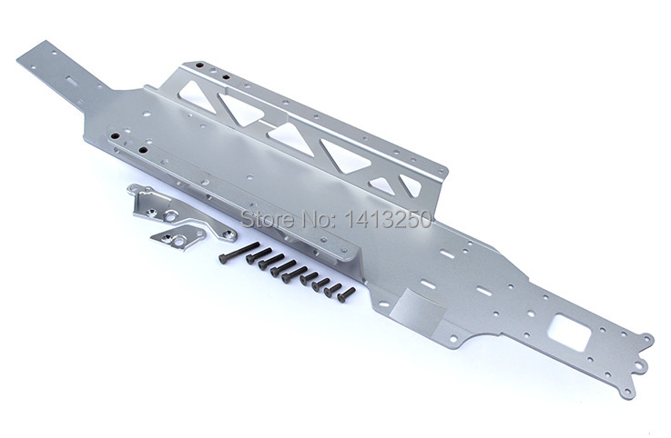 CNC All In One chassis plate TS H85177 for baja parts sliver titanium and orange choose