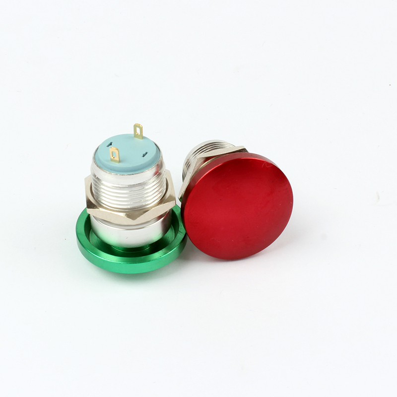 16mm Metal Waterproof Alloy Push Button Switch mushroom Momentary 1NO Button press button worldwide 16MG/HJ.F.C-G