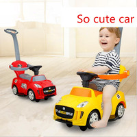 New Hand Push Twist Car Scooter Wheeled Stroller Children Walker Pig Car Infant Child Tricycle Ride on Car Toys for Children