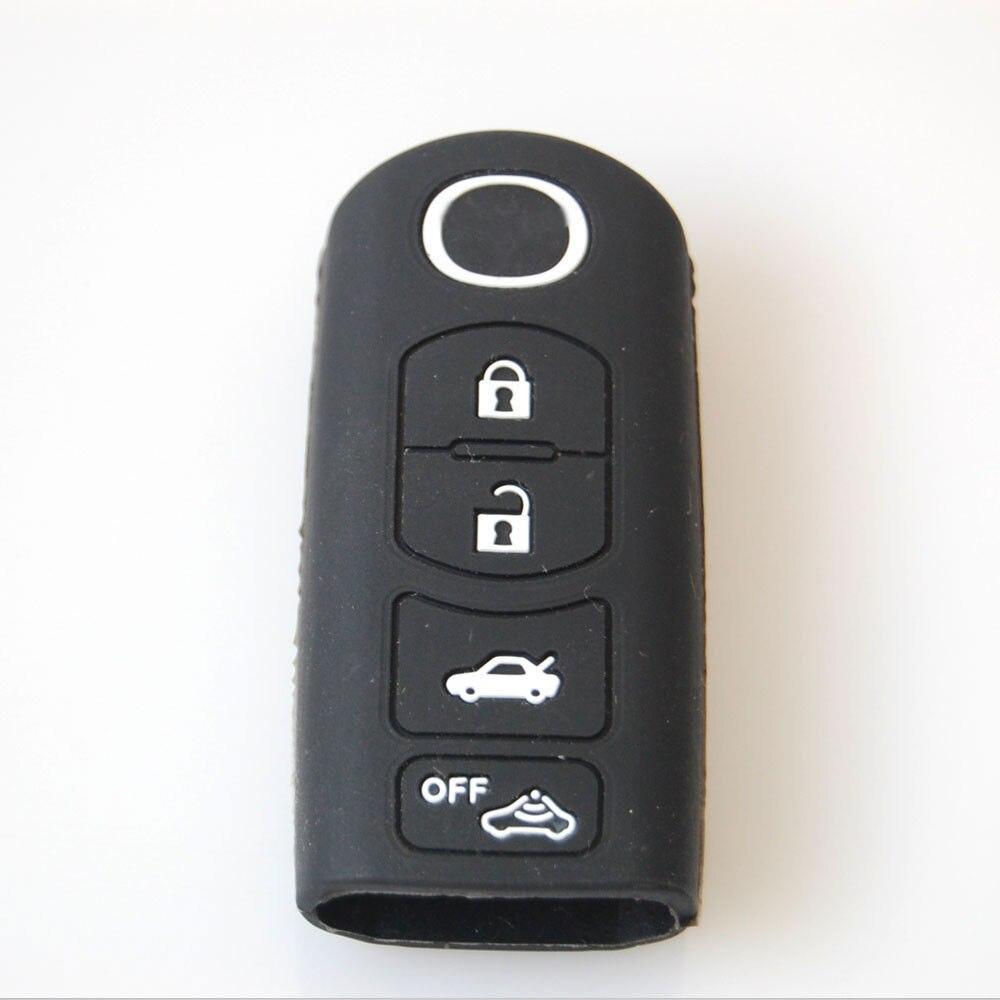 f06d65dfe Bbq @ fuka أسود حامل القضية شل غطاء سيليكون مفتاح السيارة لمازدا m6 cx7 cx9  سيدان 4 زر الذكية مفتاح فوب السيارات التصميم سيارة يغطي